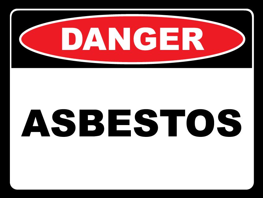 MCG - danger asbestos warning